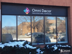 Dimensional letters on Outdoor Sign for Omni Decor North York