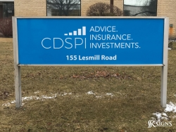Aluminum Ground Sign at CDSPI Toronto