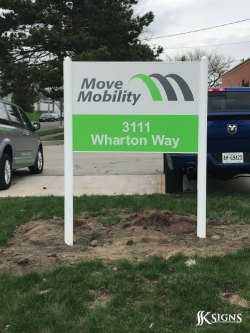 Post and Panel Sign for Move Mobility in Mississauga