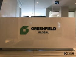 Lobby Sign for Greenfield in Toronto