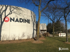 Dimensional letters on Outside sign for Nadine in Mississauga