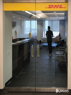 Window Vinyl at DHL New Jersey
