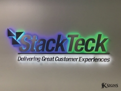Illuminated Dimensional Letters at StackTeck in Brampton
