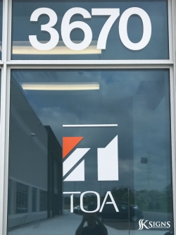 Windows Decal for TOA in Mississauga