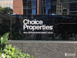 Outdoor graphics for Choice Property REIT in Toronto