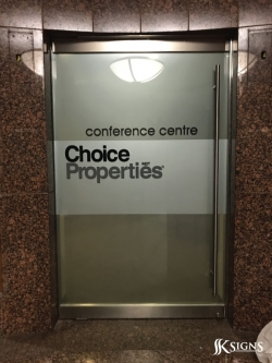 Window graphics for Choice Properties REIT in Toronto