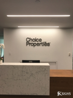 Reception sign for Choice Property REIT in Toronto