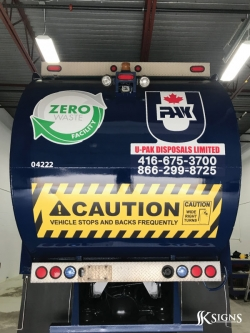 Fleet graphics installed for UPAK in Mississauga