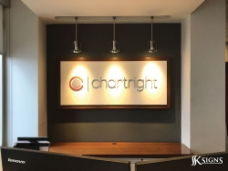 Lobby Signs for Chartright in Mississauga