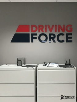Dimensional Letters Installed For Driving Force In Mississauga