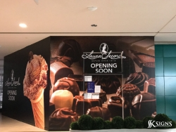 Hoarding for Laura Secord in Scarborough Centre