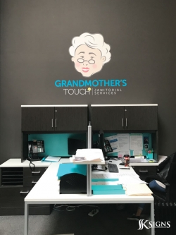 Wall graphics installed for Grandmothers Touch in Mississauga