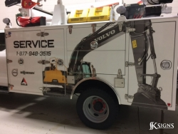 Custom fleet graphics installed for Strongco in Edmonton