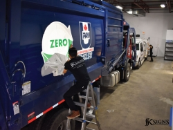 Truck Graphics Installation For U PACK In Mississauga