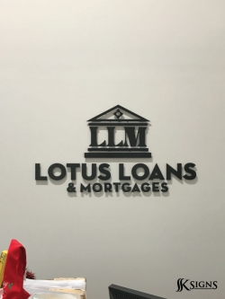 Lobby Sign For Lotus Loans