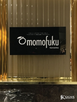 Acrylic Sign For Pusateris Momofoku