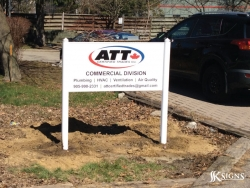 ATT Exterior Ground Signs for Business Promotion