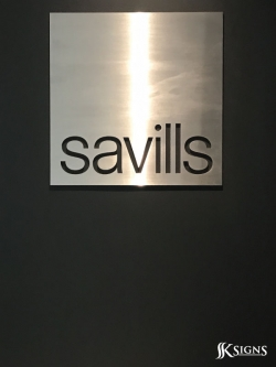 Lobby Sign Installed For Savills