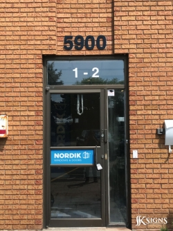 3d Letters And Decals Installed For Nordik In Mississauga