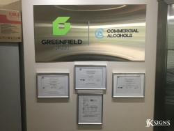 Lobby Sign Installed For Greenfield Global In Brampton