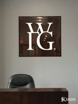 Lobby Sign Installed For Wfg In Mississauga