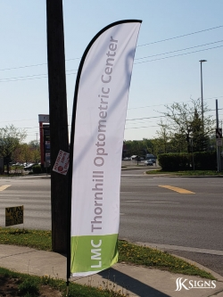 Feather Flag For Thornhill Optometric Center