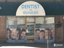 Window Graphics For Dentist On Dundas