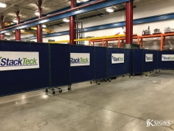 Printed Vinyl On Pvc Board For Stackteck In Brampton