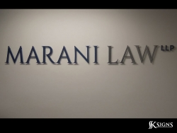 Lobby Sign At Marani Law In Toronto