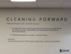 Wall Graphics Installed At Impact Cleaning In Toronto